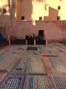 Tombs outside at Saadian Tombs in Marrakesh (Marrakech)