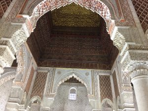 Saadian Tombs ceiling in Marrakesh (Marrakech)