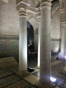 Pillars at Saadian Tombs in Marrakesh (Marrakech)