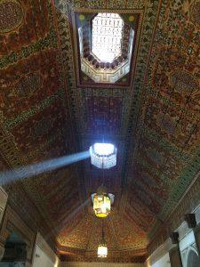 Beautiful ceiling at Bahia Palace, Marrakesh (Marrakech)