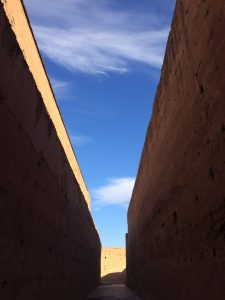 Sky above El Badi Palace in Marrakesh (Marrakech)