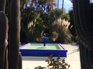 Fountain in Jardin Majorelle - Yves Saint Laurent's place in Marrakesh (Marrakech)