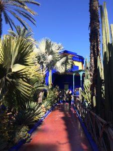 View towards Le Jardin Majorelle in Marrakesh (Marrakech)